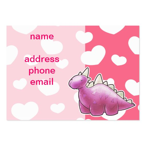 Pretty Pink Baby Dinosaur Business Card