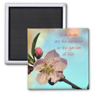 Pretty Pink Blossom Grandma Magnet Gift