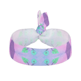 Pretty Pink Blue  Flower Abstract Hair Tie
