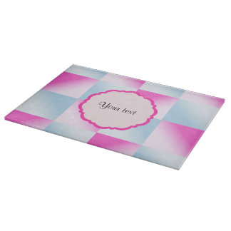 Pretty Pink & Blue Gradient Squares Boards