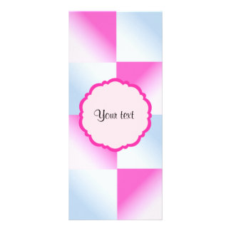 Pretty Pink & Blue Gradient Squares Rack Cards