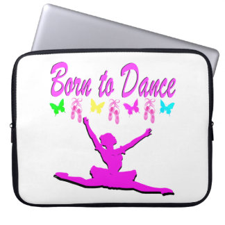 PRETTY PINK BORN TO DANCE BALLERINA DESIGN COMPUTER SLEEVES