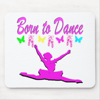PRETTY PINK BORN TO DANCE BALLERINA DESIGN MOUSE PAD