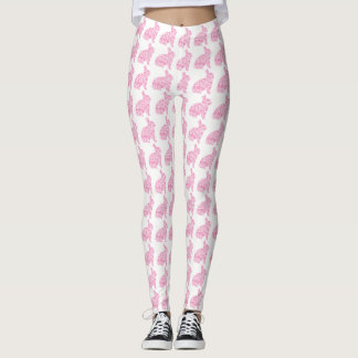 Pretty Pink Bunnies Easter Leggings