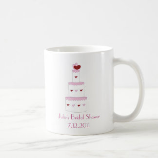 Pretty Pink Cake Bridal Shower Favor Mug