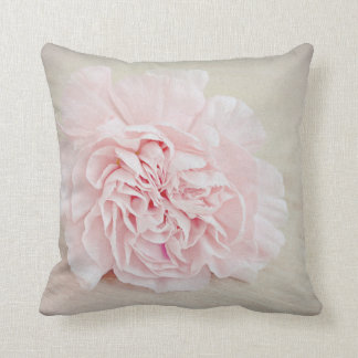 Pretty Pink Carnation by JoMazArt Throw Pillow