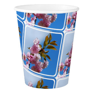Pretty Pink Cherry Tree Paper Cup