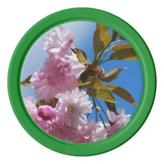 Pretty Pink Cherry Tree Poker Chip Set