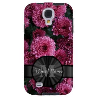 Pretty pink Chrysanthemum  flower monogram