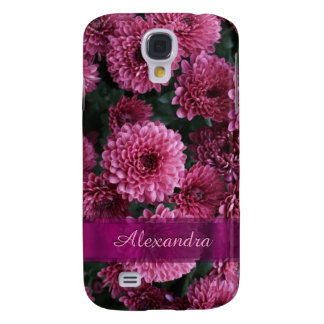 Pretty pink Chrysanthemum  flower personalized