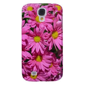 Pretty pink chrysanthemum flowers print