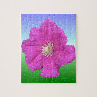 Pretty Pink Clematis Flower Puzzle