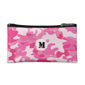 Pretty Pink Colors Camouflage Pattern Makeup Bag