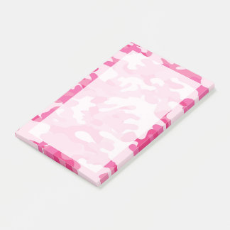 Pretty Pink Colors Camouflage Pattern Post-it Notes