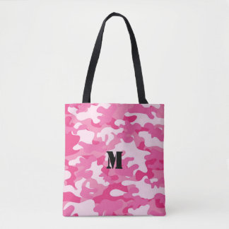 Pretty Pink Colors Camouflage Pattern Tote Bag