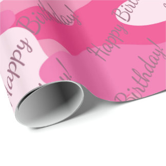 Pretty Pink Colors Camouflage Pattern Wrapping Paper