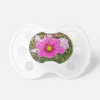 Pretty Pink Cosmos Flower Pacifier