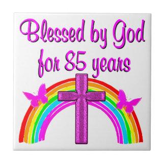 PRETTY PINK CROSS 85TH BIRTHDAY DESIGN TILES