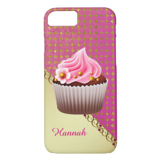 Pretty Pink Cupcake Custom 7 Case