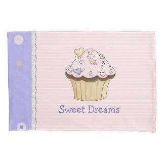 Pretty Pink Cupcake Pillow Case Pillowcase