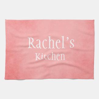 Pretty Pink Custom Name Kitchen Towel