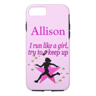 PRETTY PINK CUSTOM TRACK AND FIELD IPHONE CASE