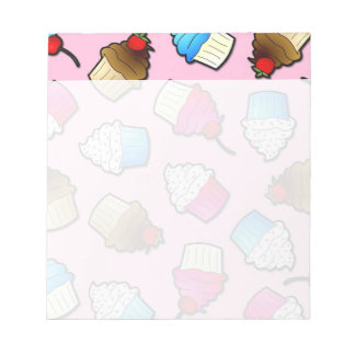 Pretty Pink Cute Cupcakes Print Notepads