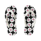 Pretty Pink Daisies Kid's Flip Flops