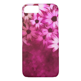 pretty pink daisy art iPhone 7 case