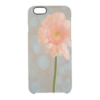 Pretty Pink Daisy Bokeh Clear iPhone 6/6S Case