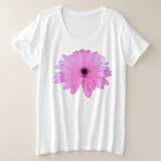 Pretty Pink Daisy Flower accent Plus Size T-Shirt