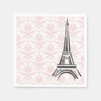 Pretty Pink Damask Paris Napkin