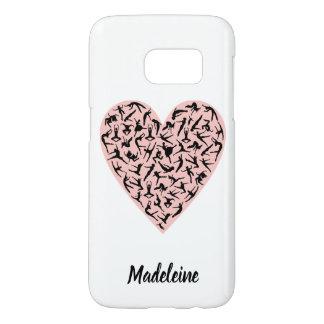 Pretty Pink Dance Heart Samsung S7 Case