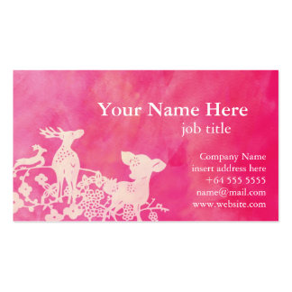 Pretty Pink Deers Profile Card Business Card