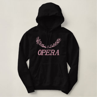 Pretty Pink Embroidery Opera Lover Hoodie