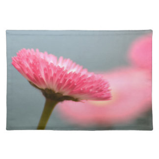 Pretty Pink English Daisy Flower Placemats