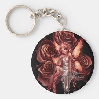 pretty pink fairy keychain