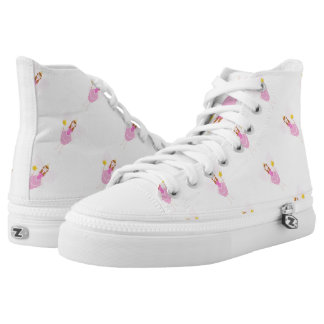 Pretty Pink Fairy Zipz High Top Shoes