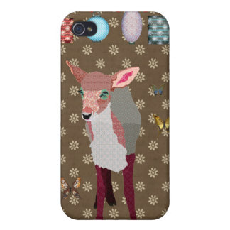 Pretty Pink Fawn & Butterflies i iPhone 4/4S Case