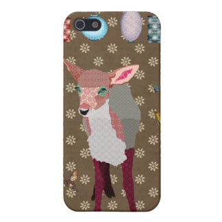 Pretty Pink Fawn & Butterflies i iPhone 5 Cases