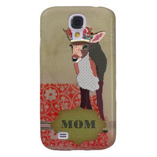 Pretty Pink Fawn Mom  Samsung Galaxy S4 Case