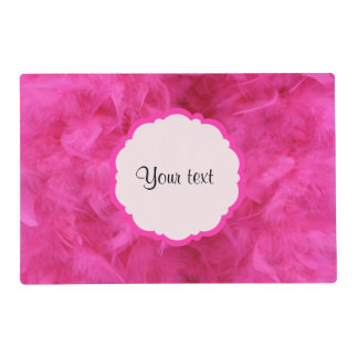 Pretty Pink Feathers Laminated Placemat