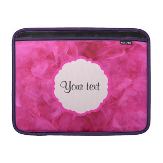 Pretty Pink Feathers MacBook Sleeve