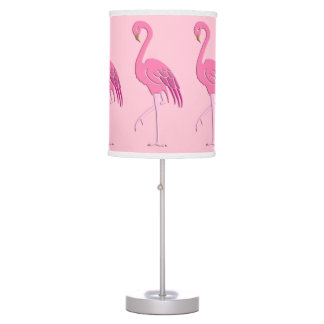 Pretty pink flamingo table lamp