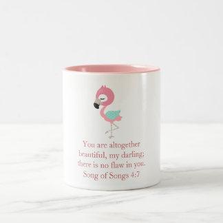 Pretty Pink Flamingo Two-Tone Coffee Mug