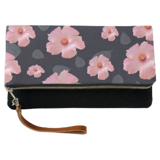 Pretty Pink Floral Clutch