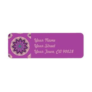 Pretty Pink Floral Design Return Address Label