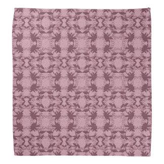 Pretty Pink Floral Lace Pattern  Bandanna