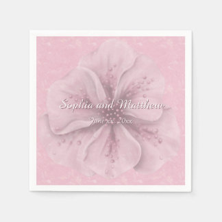 Pretty Pink Floral Paper Napkins