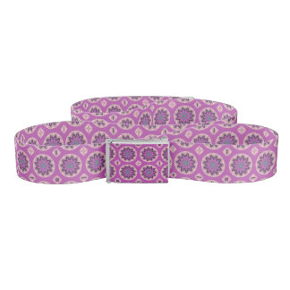 Pretty pink floral pattern belt
